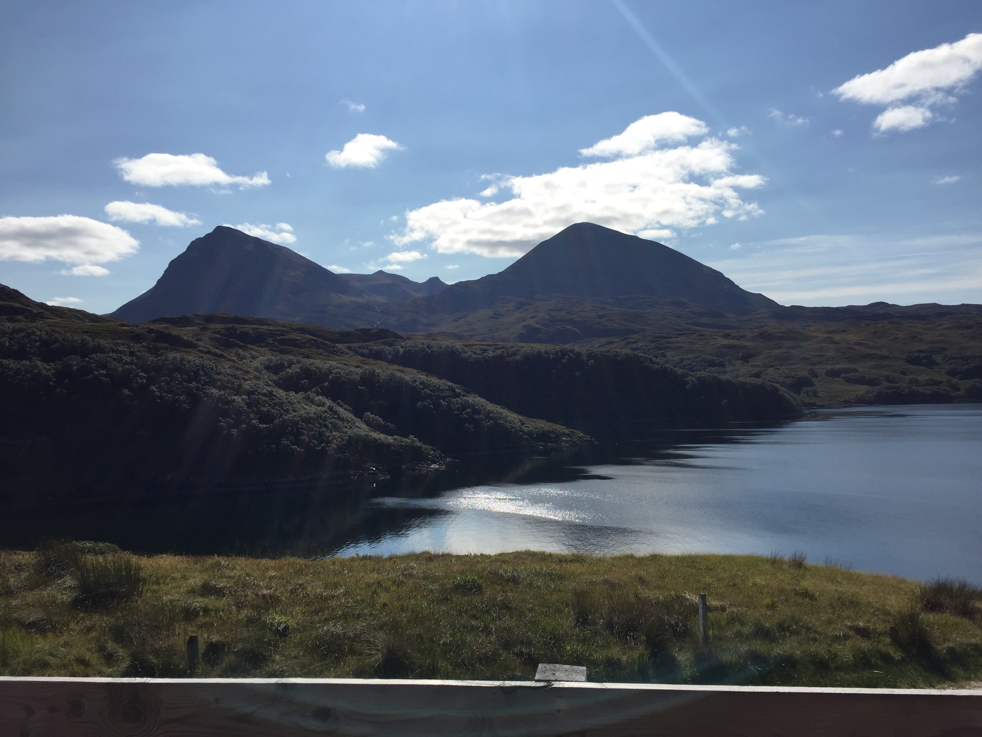 uninterrupted views of Quinag and the sea loch