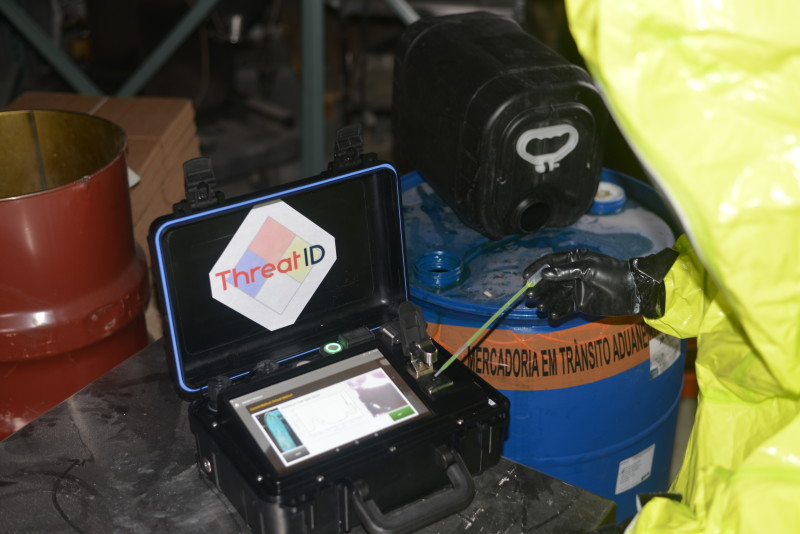 ThreatID portable FTIR chemical analyzer with a 10 inch screen