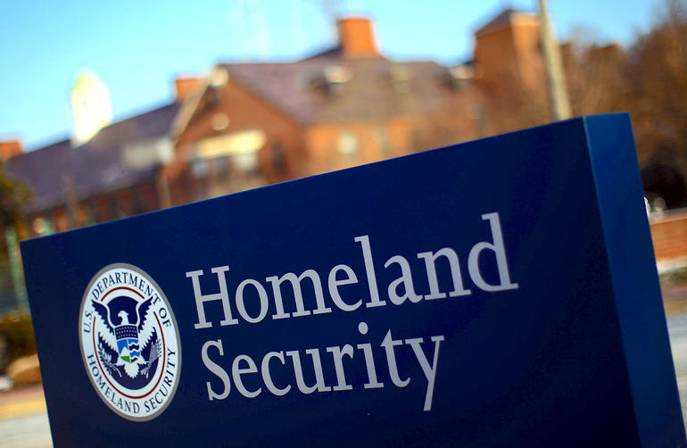 Sign of Department of Homeland Security