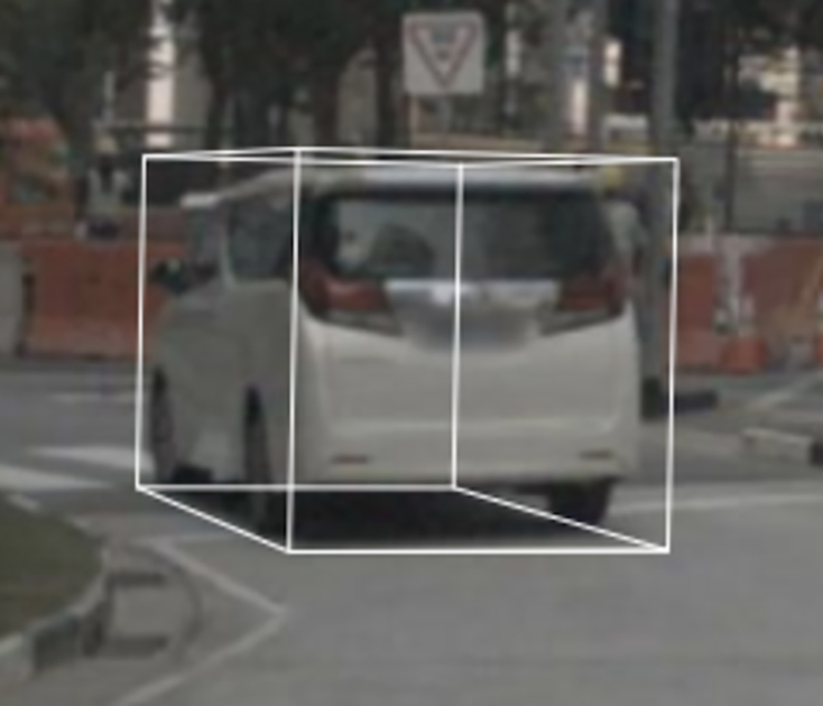 A vehicle annotated from a combo of LiDAR + Video
