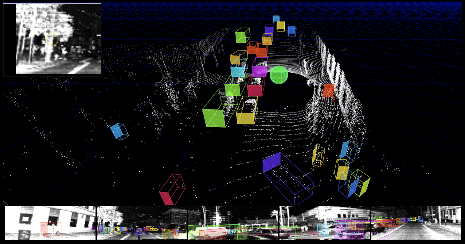 Point cloud computed only from depth information encoded in image pixels.
