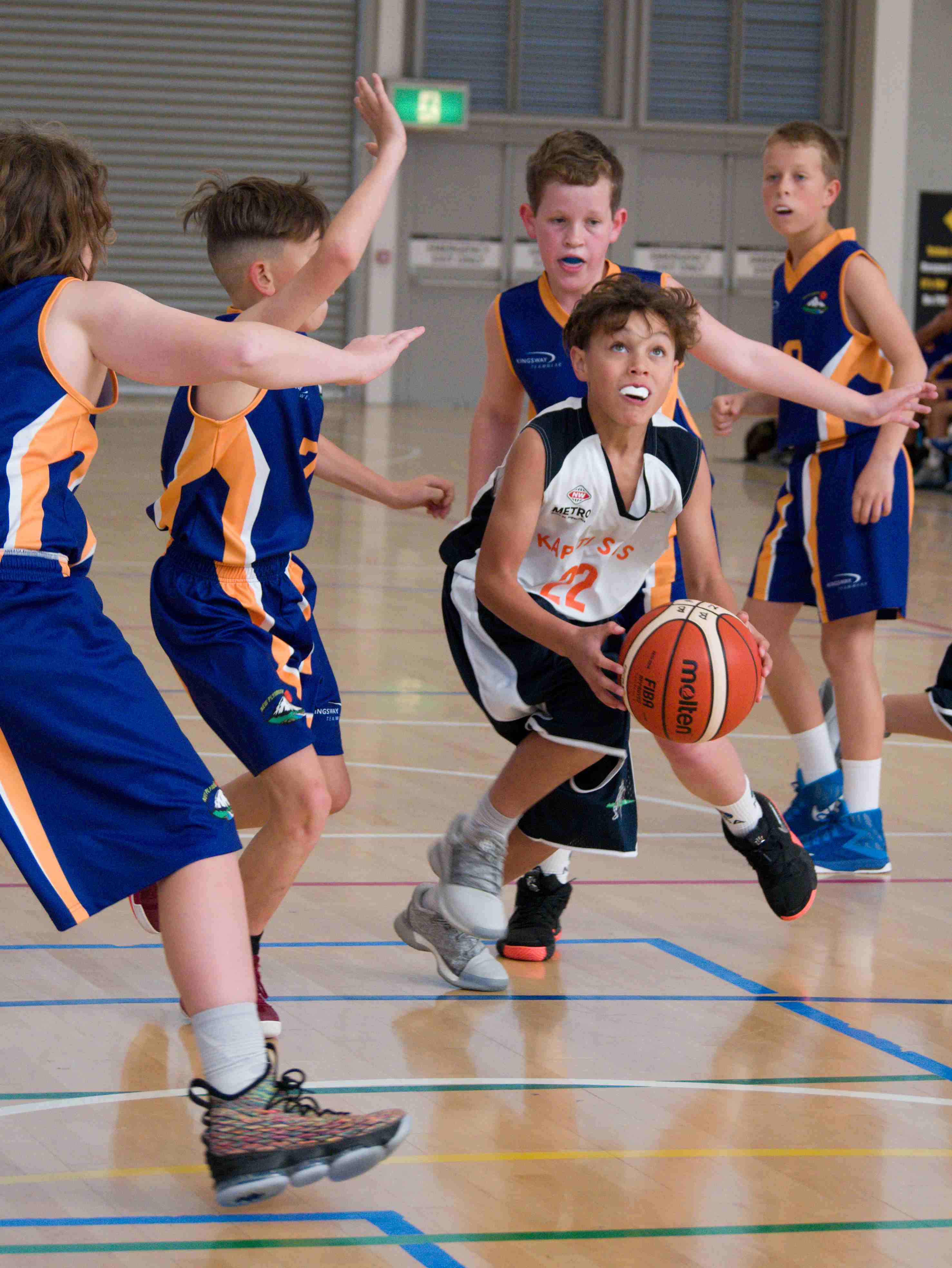 u13 team in action