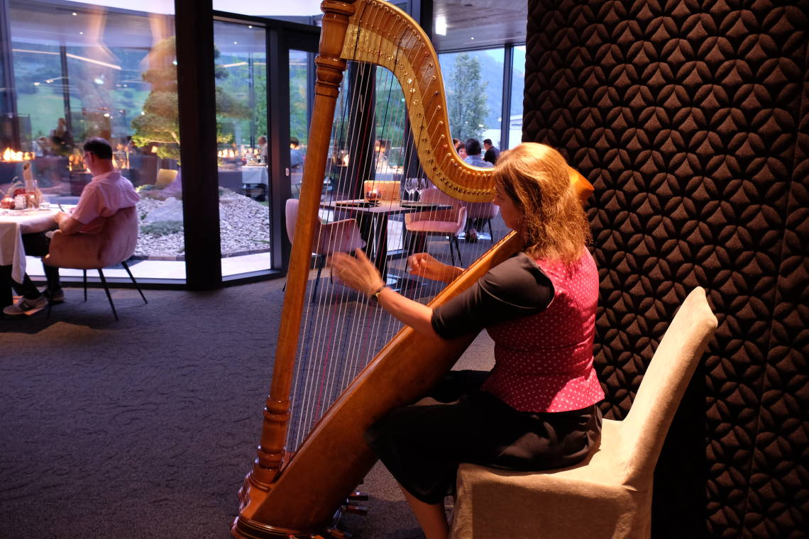 Harp player in the Sport and Wellness Hotel Held