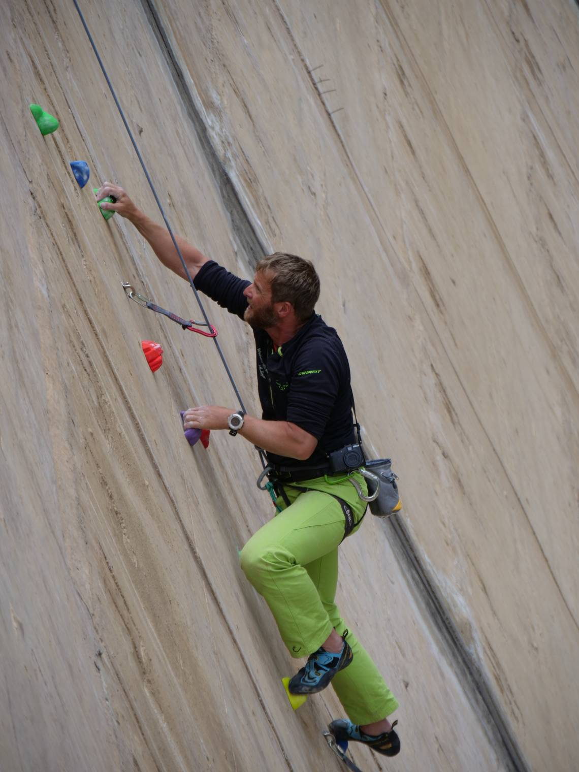 Fixed rope route Schlegeis 131