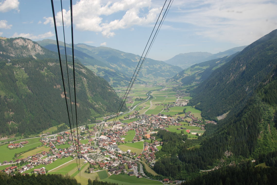 View to Mayrhofen from Mount Ahorn