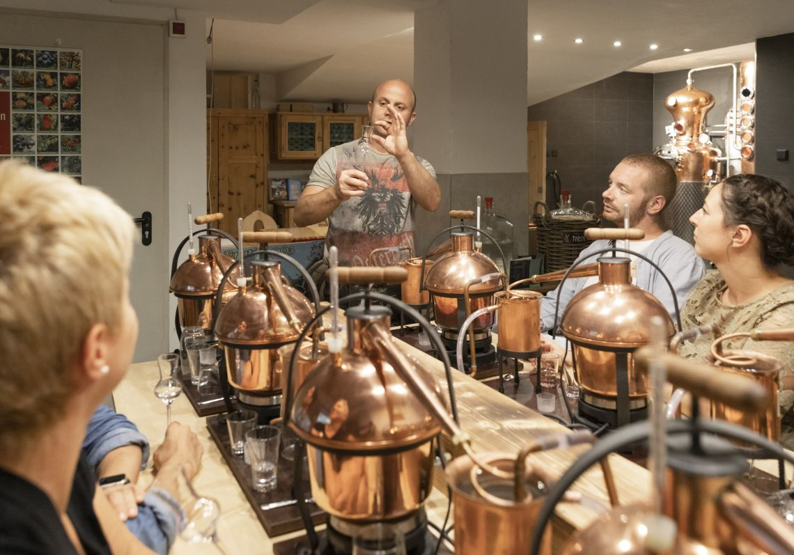 Experience schnapps distillery
