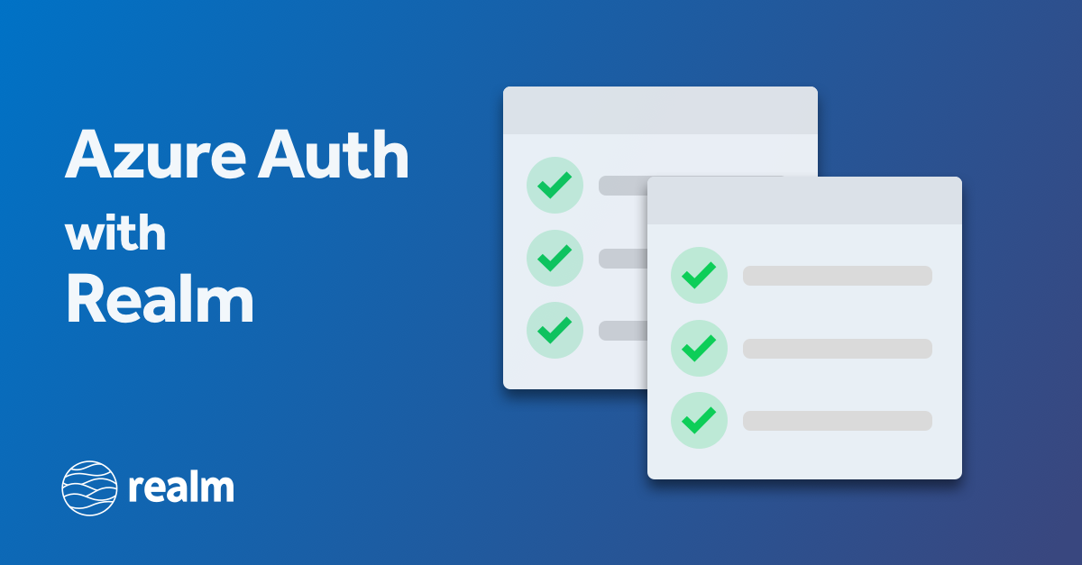 Integrating Azure Authentication with Realm