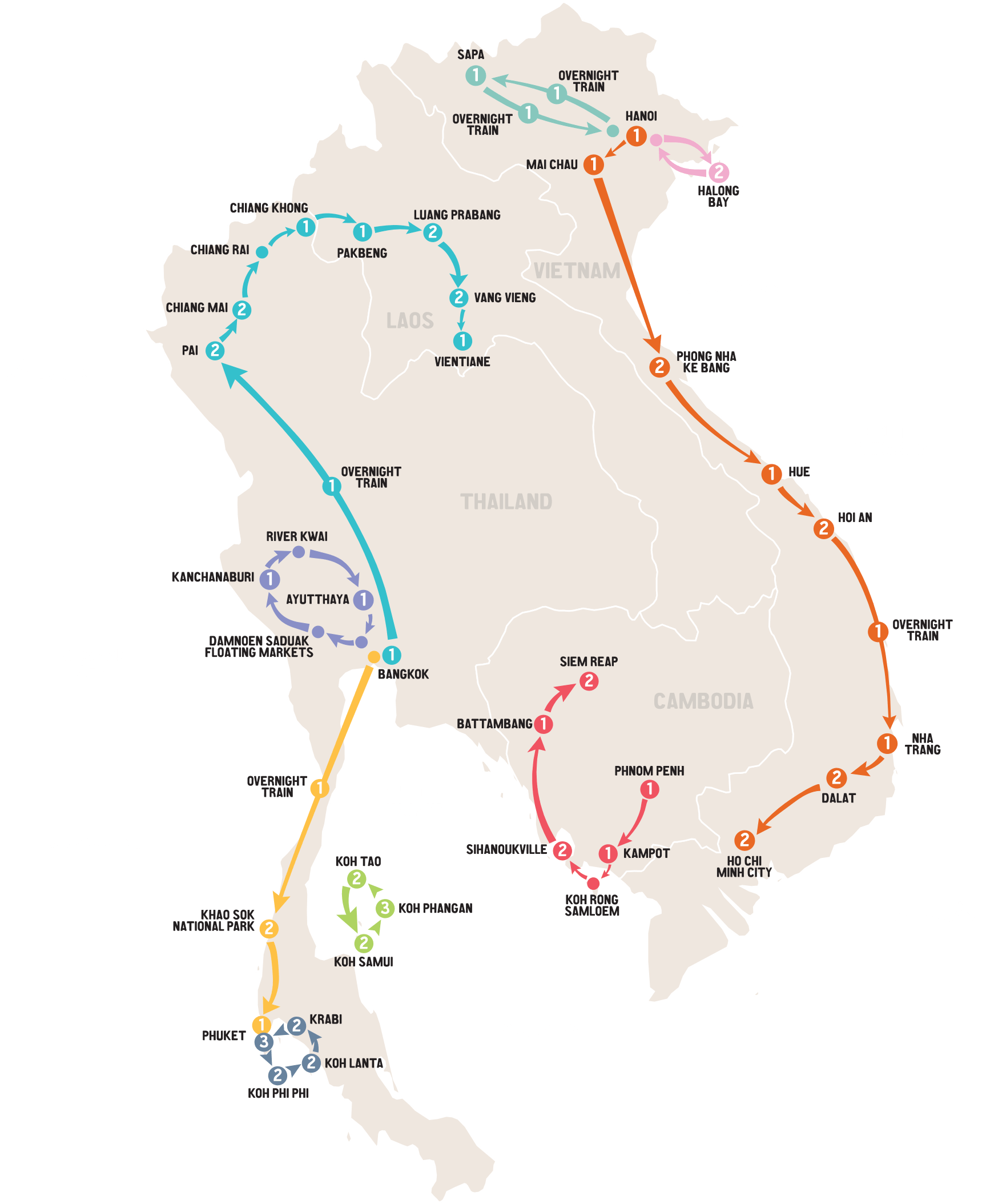 Map of Asia Unlimited Pass