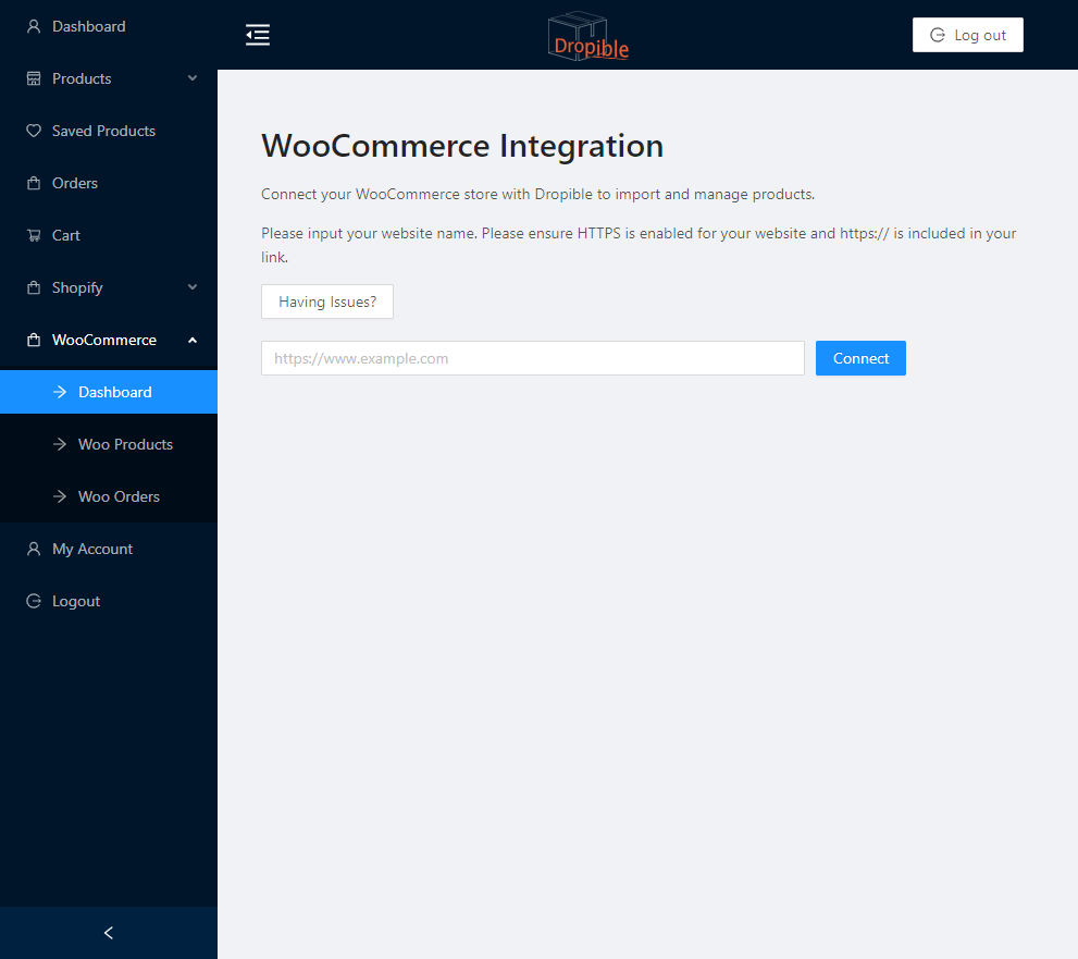 woocommerce-connect-dropible