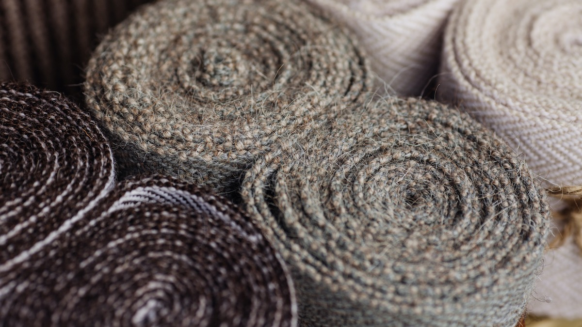 Heavy pure wool fabric material ideal for coats and suits.with label