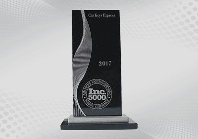 Inc Magazine Awards Car Keys Express for Being One of America's Fastest-Growing Private Companies.