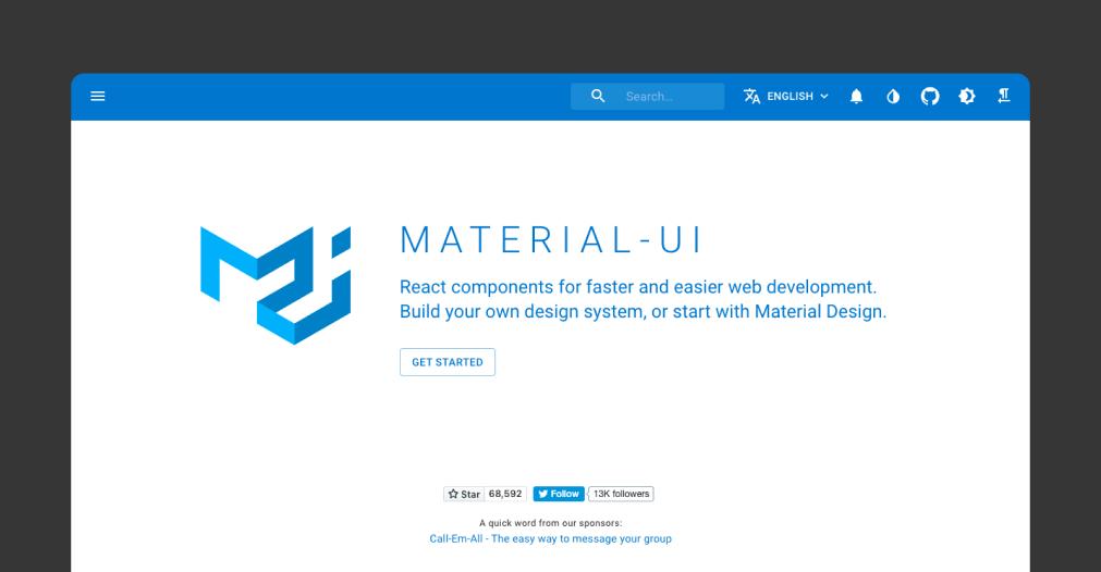 Material UI - 讓人心動的 6 個 React Design Systems
