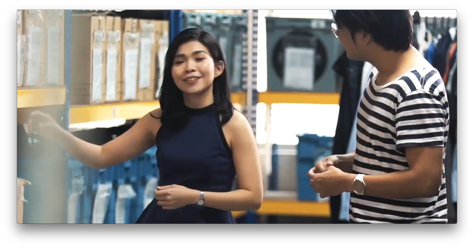 Zalora video first frame