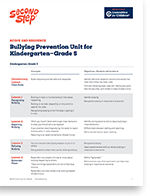 Bullying Prevention Unit for Kindergarten