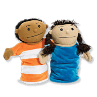 2 High-Quality Puppets (Boy & Girl)