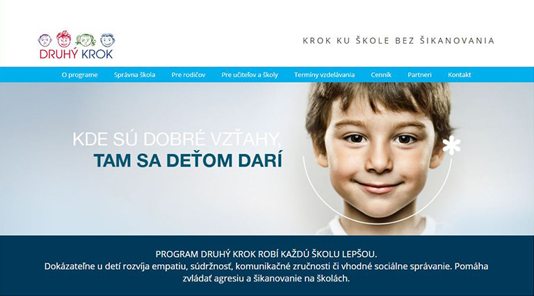 screencap of druhy krok website