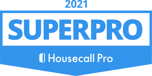 2021 Superpro badge from Housecall Pro