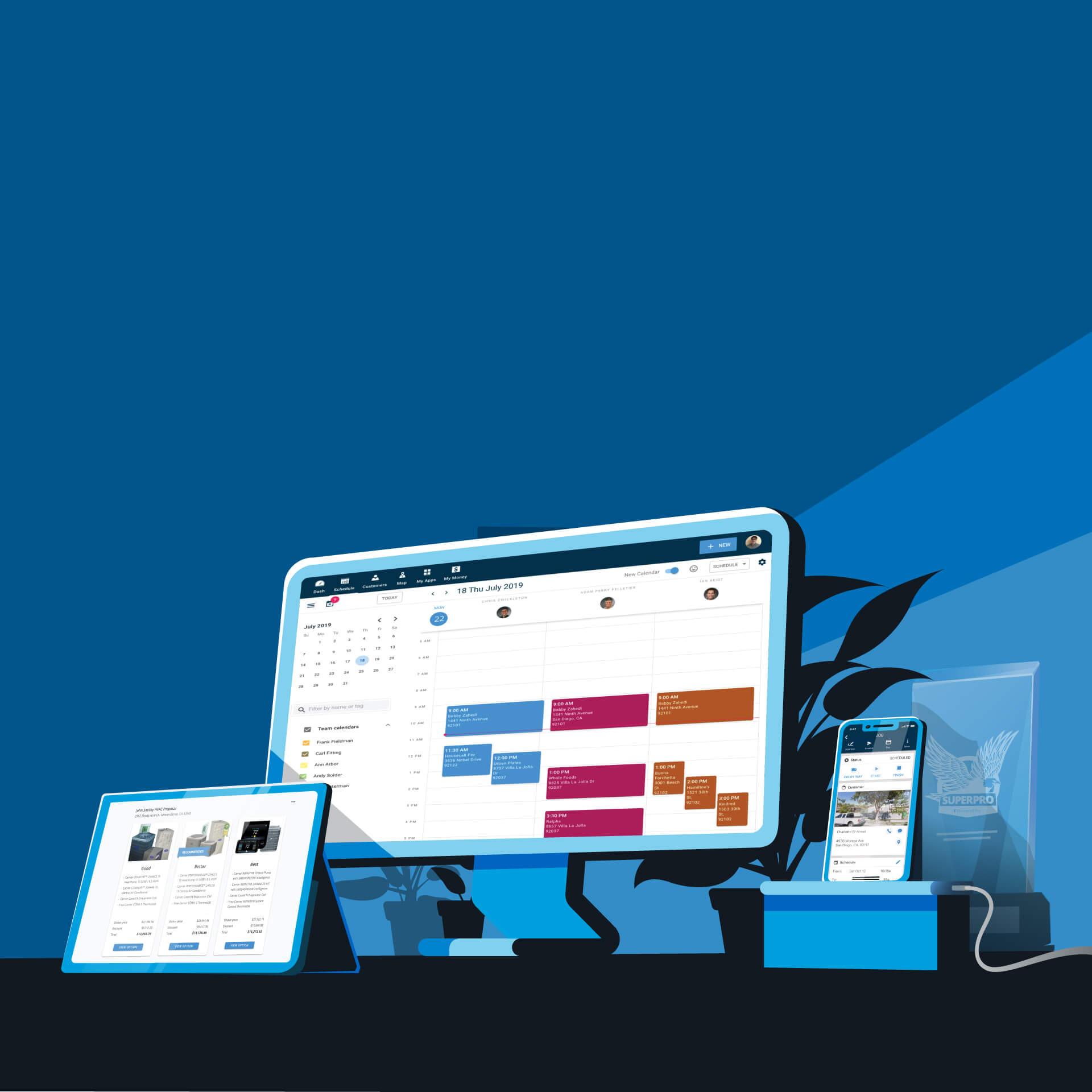 Homepage illustration desktop