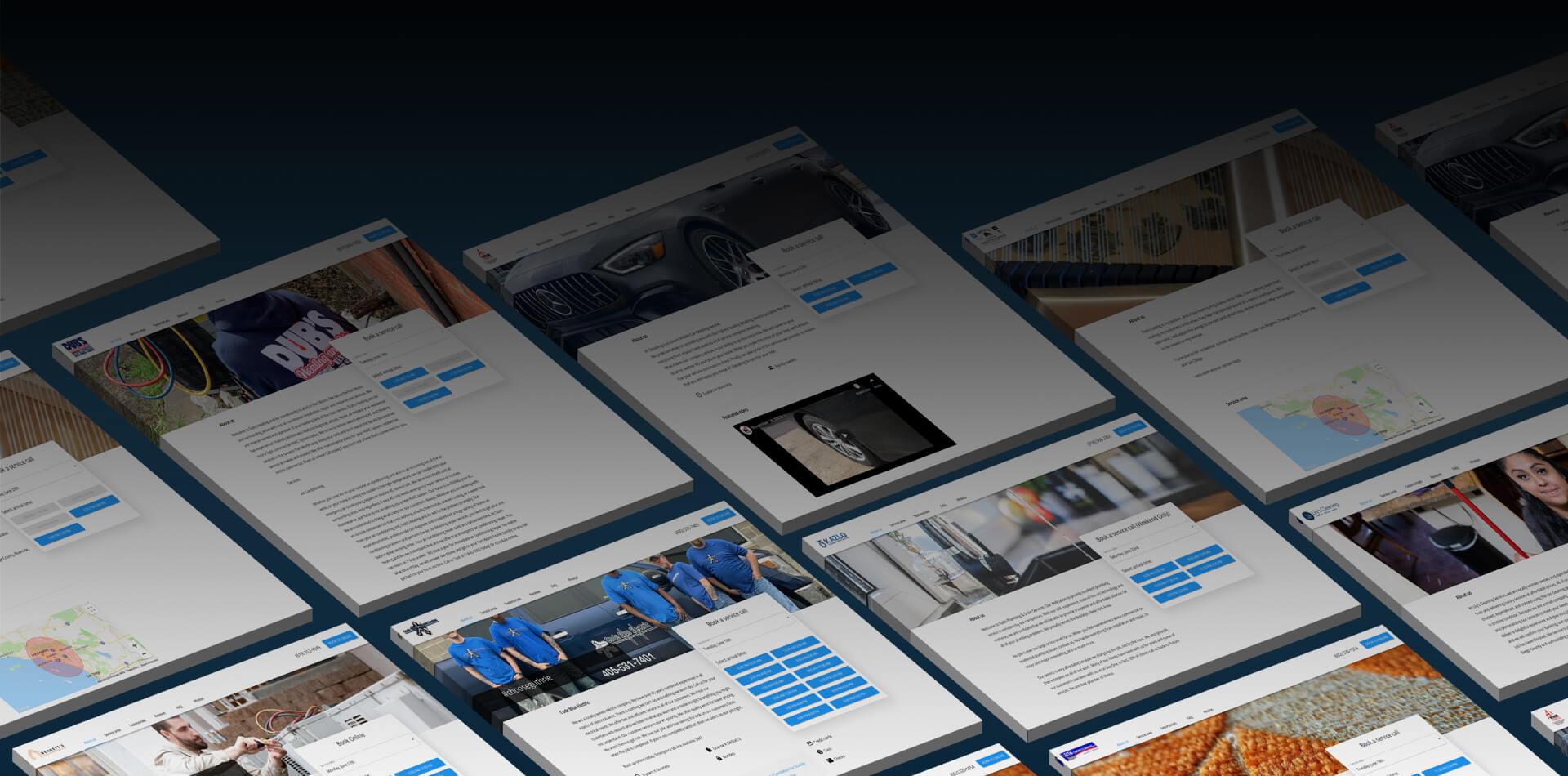 Website builder desktop hero