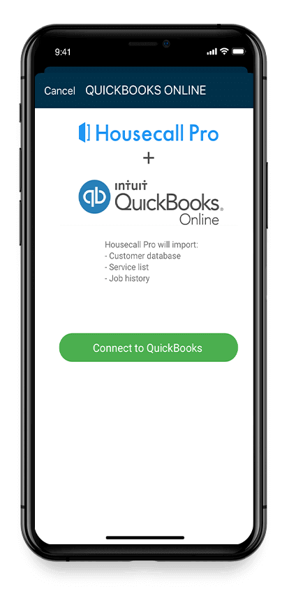Mobile plumbing software for QuickBooks on an iPhone
