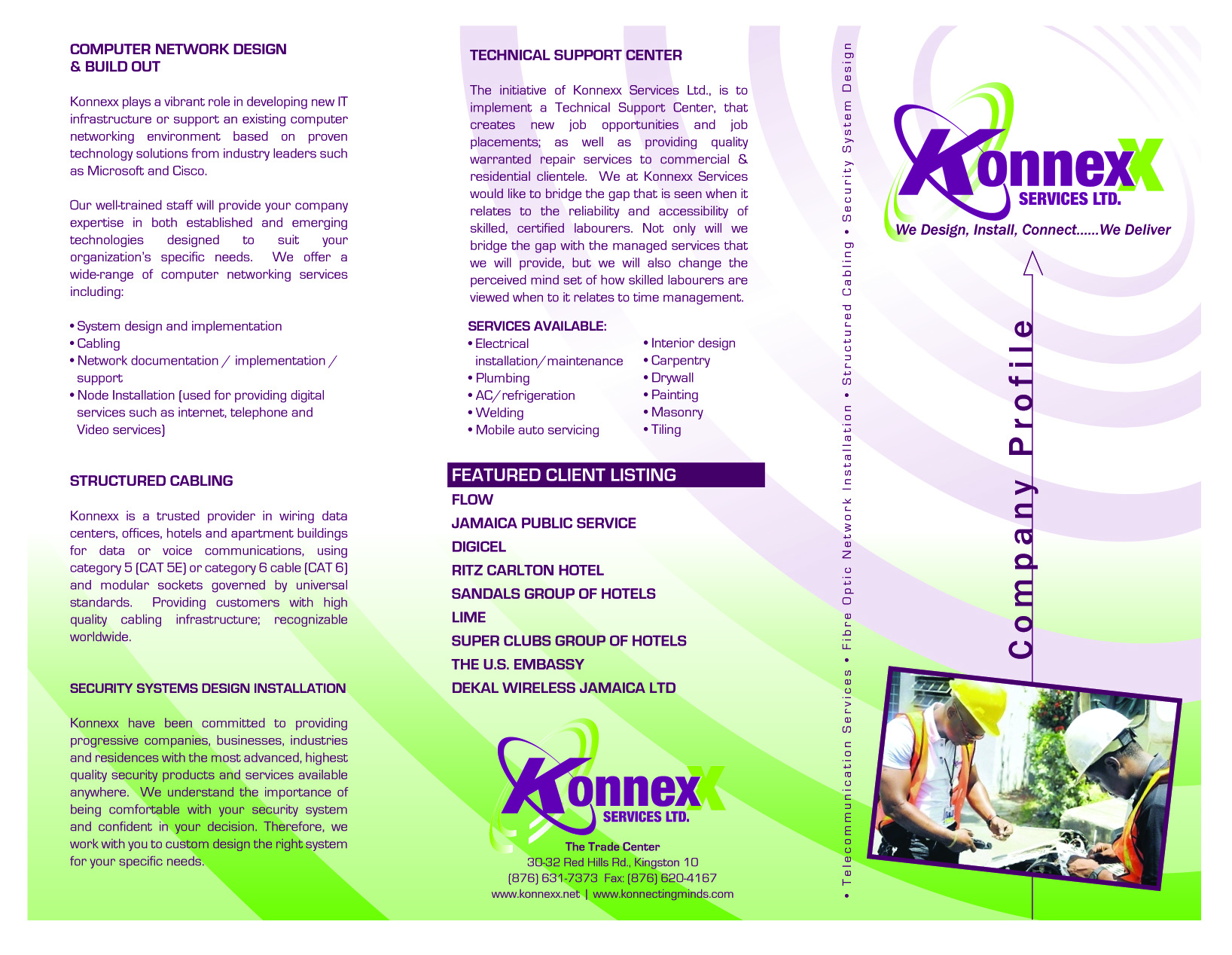 Structured Cabling Konnexx Limited Modular Wiring Solutions Company Brochure