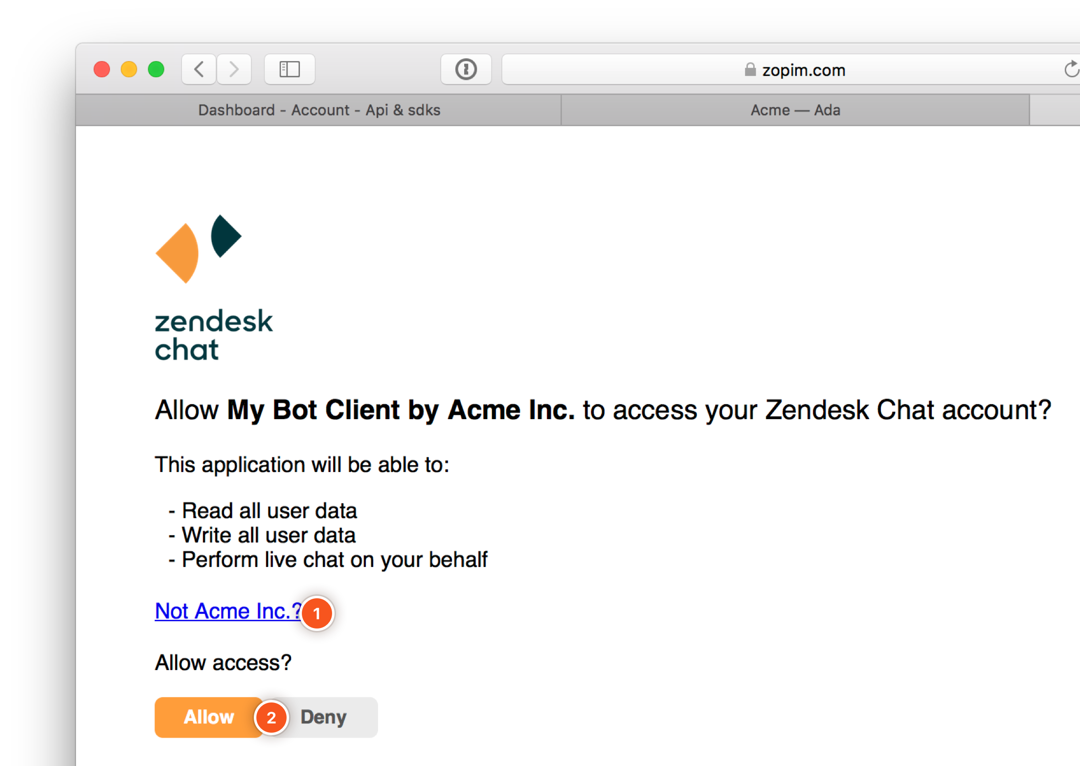 Zendesk Chat - Step 10