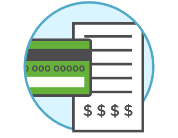 Payment Graphic - Credit card and reciept