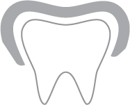 Tooth crown icon