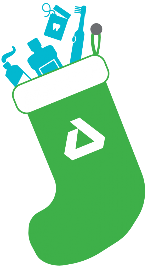Delta Dental branded stocking graphic