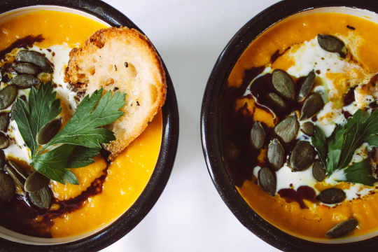 Vegan Pumpkin Soup with Turmeric