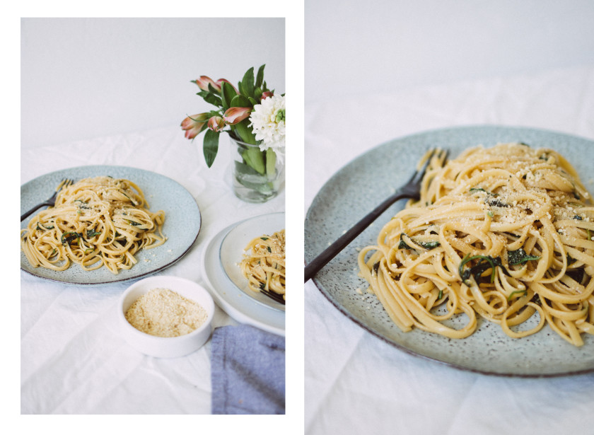 R273 Spring pasta with wild garlic and lemon