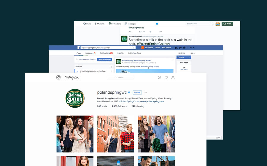 Springbox Community Management Poland Spring Social Channels