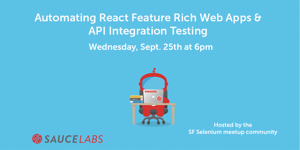 Automating React Feature Rich Web Apps & API Integration Testing logo