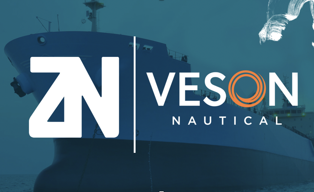 partnership announcement logos Veson Nautical and ZeroNorth