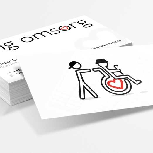 Business cards for Swedish elderly care firm