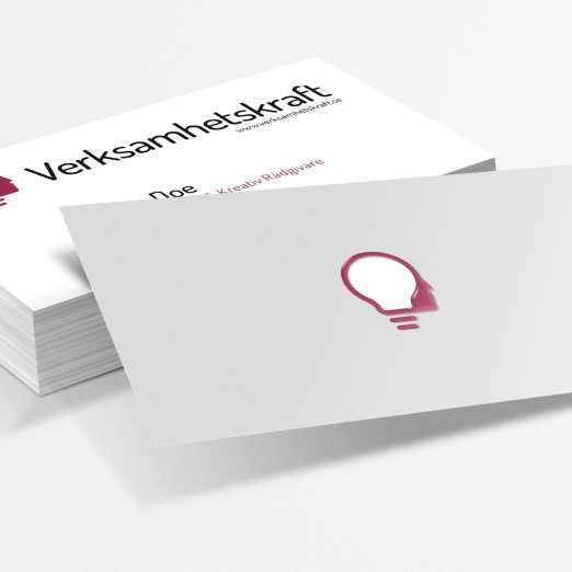 Business cards for Swedish education and creativity consultancy firm.