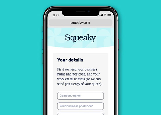 Squeaky simple product