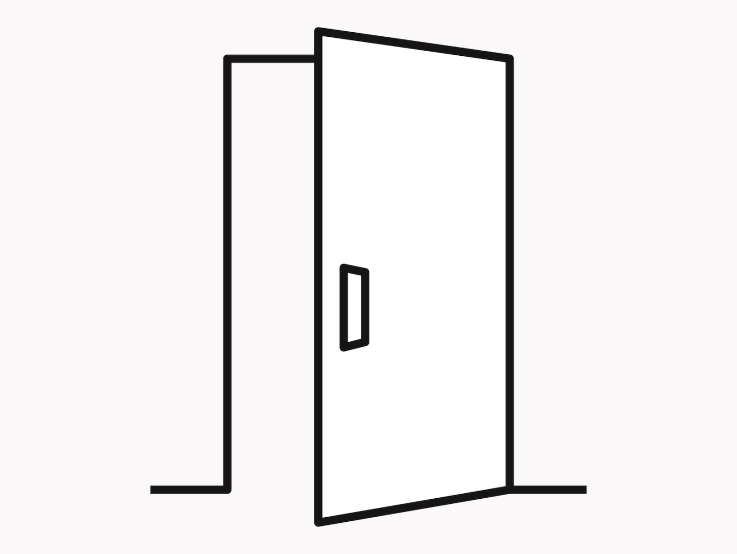 An illustration of a door opening in