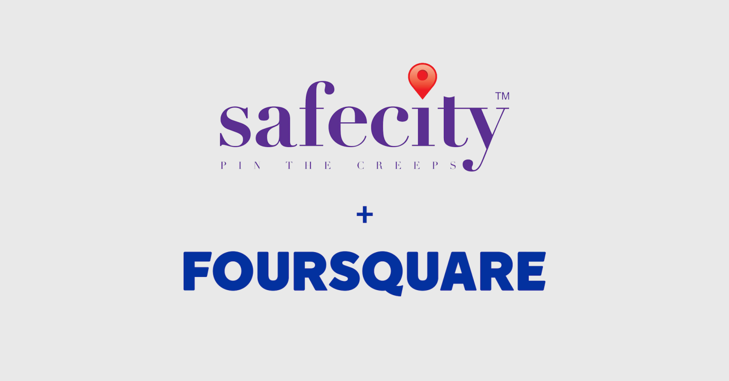 SafeCity + Foursquare logos
