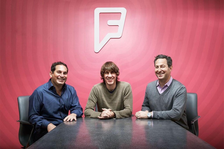 President Steven Rosenblatt, Executive Chairman & Co-founder Dennis Crowley, CEO Jeff Glueck