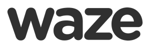 The logo of Waze