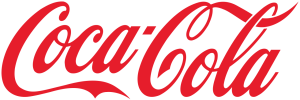 The logo of CocaCola