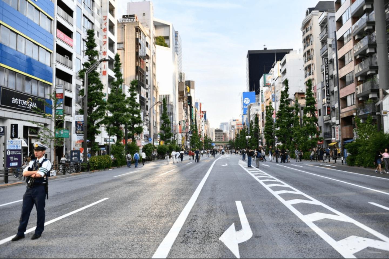 Man in street in Japan
