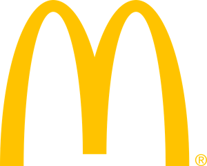 The logo of McDonalds
