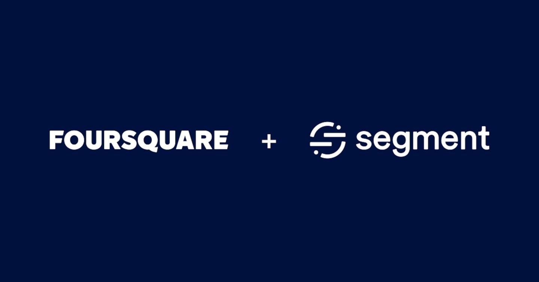 Foursquare + Segment logos