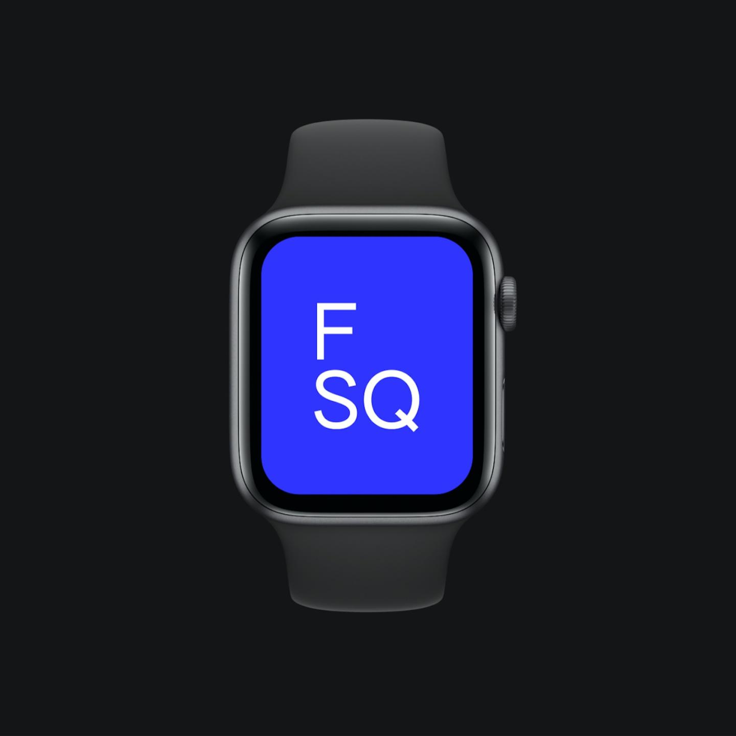 an image of a watch with a blue screen on a black background