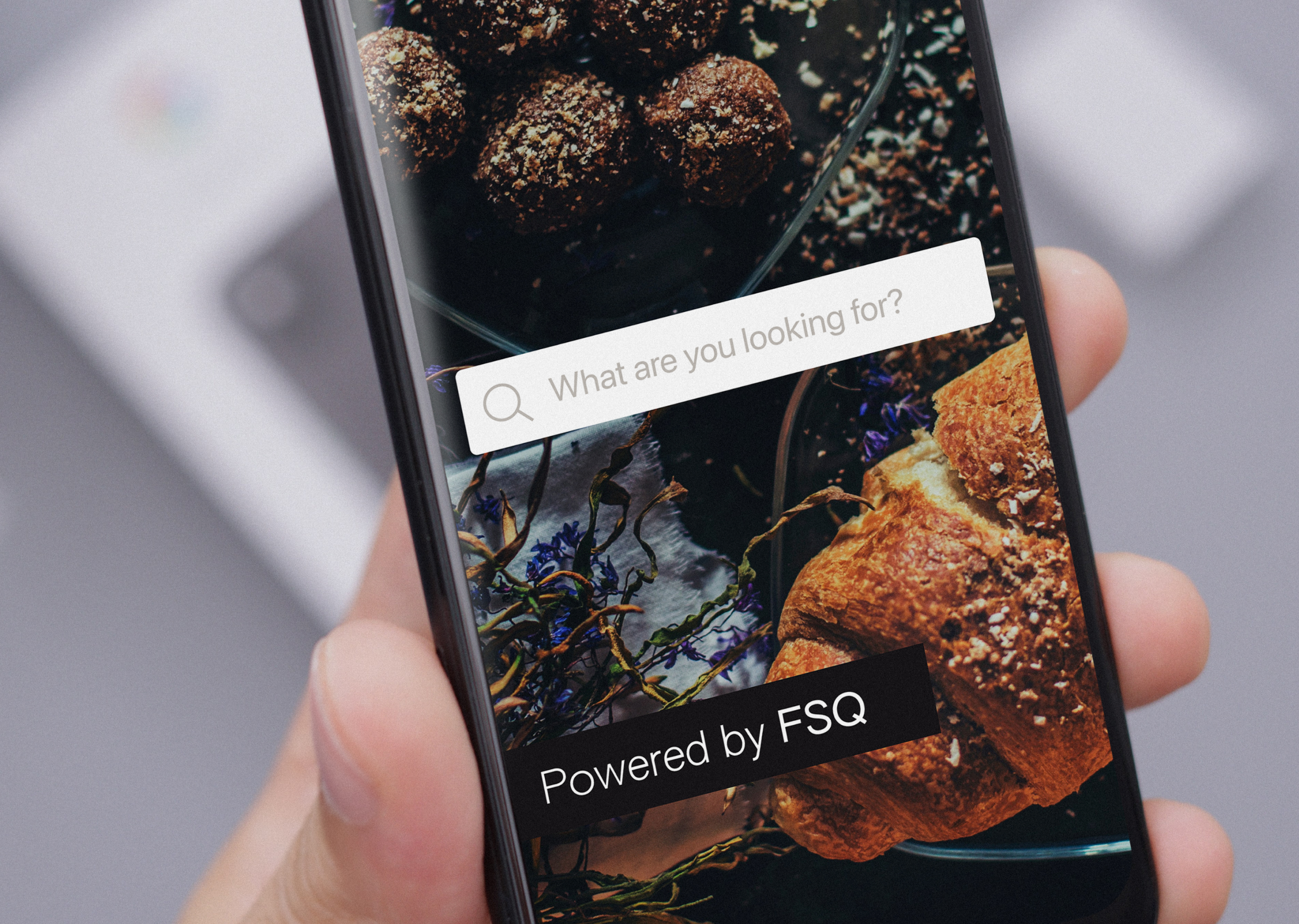 Image: rebrand iphone Powered by FSQ