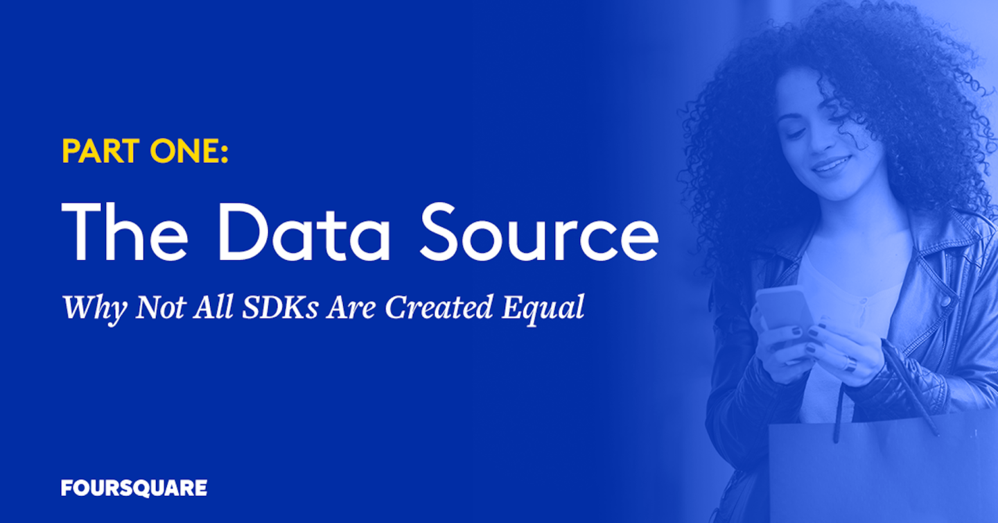 Card displaying text: Part One, The Data source - why not all SDKs are created equal
