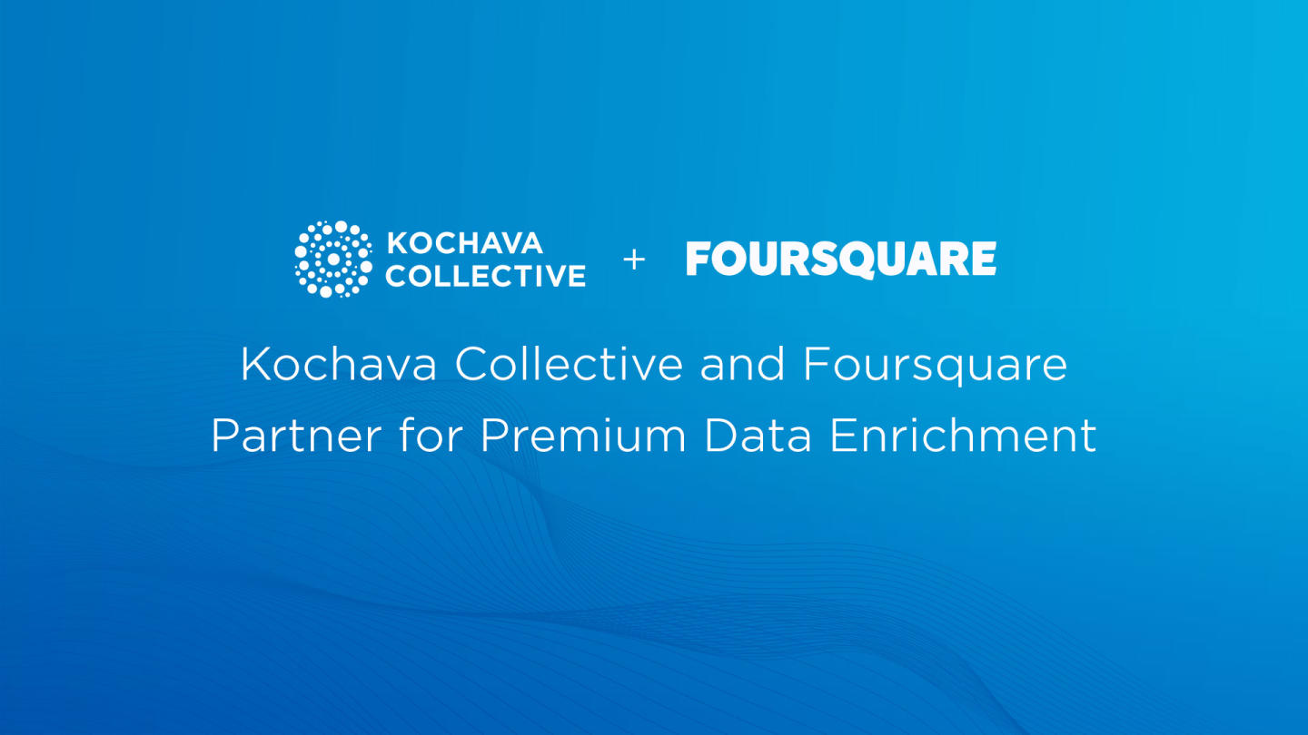 Kochava and Foursquare logos