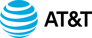 The logo of AT&T